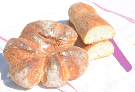 basic food: sicilian bread just coocked with wood oven