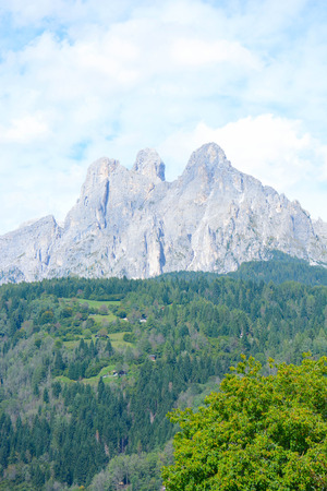 martino: view of pale di san martino mountains at dolomiti italy
