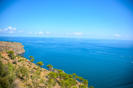 italian sea: view of italian sea and cliffs in sicily Stock Photo