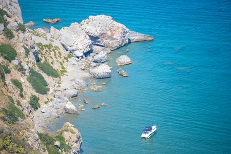 italian sea: really colours of italian sea in tuscany and puglia