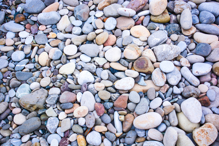 Achtergrond van zee stenen in een uniform schema
