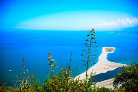 italian sea: really colours of italian sea in sicily