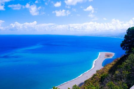 italian sea: rare view of italian sea in sicily