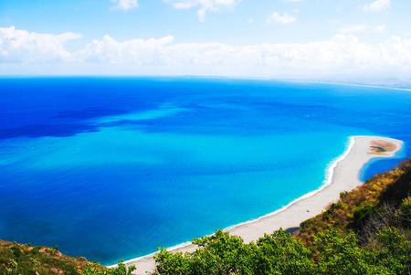 italian sea: very rare view of tindari in sicily italian sea Stock Photo