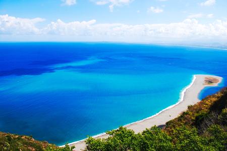 italian sea: very rare view of sicily italian sea and cliffs