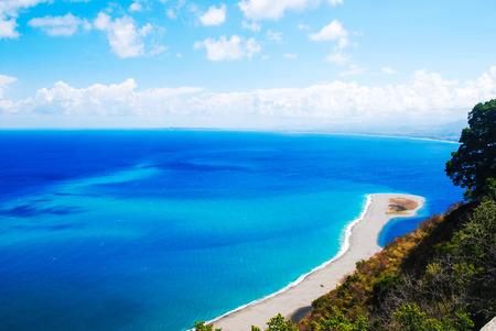 italian sea: view from tindari tip italian sea and cliffs