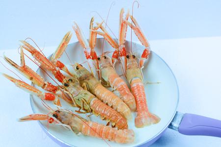 fine cuisine: scampi italian and mediterranean shellfishes Stock Photo