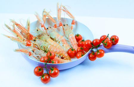 scampi: scampi italian and mediterranean shellfishes Stock Photo