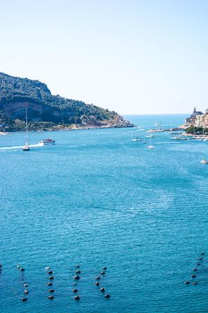 italian sea: view of italian sea at palmaria from portovenere