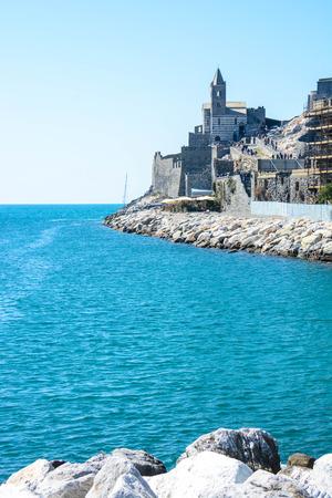 italian sea: view of italian sea at  portovenere