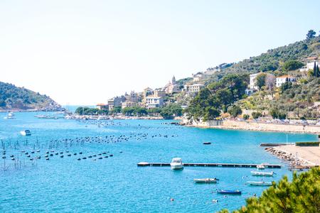 italian sea: view of italian sea at palmaria and portovenere