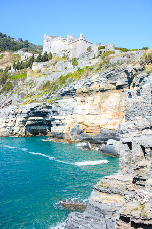 byron: rare view of lord byron cliff at portovenere italy