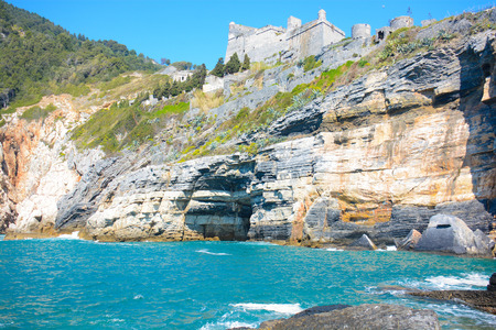 byron: rare view of byron cave at portovenere italy