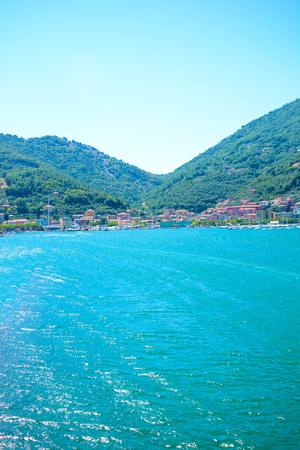 sea cliff: portovenere le grazie bay italians harbours Stock Photo