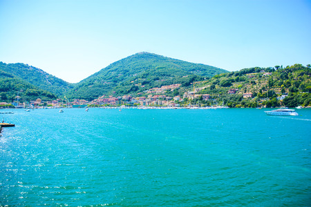 le: portovenere le grazie bay italians harbours Stock Photo