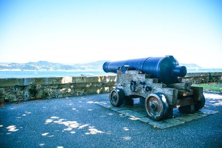ancient cannon for castel and coast defense Reklamní fotografie