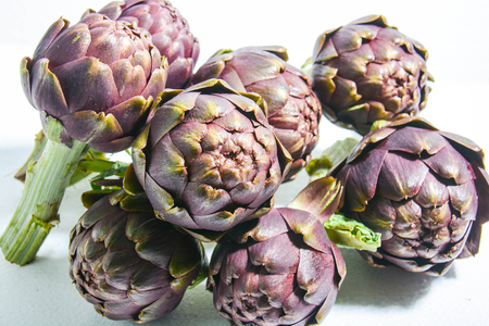 winter artichokes freshly picked from Italian countryside Stock Photo