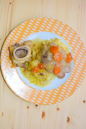 italian fine food marrowbone with rise