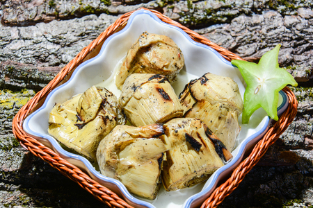 appetizer of roasted Italian artichokes