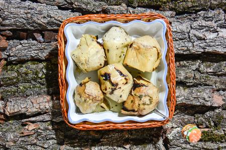 artichoke original appetizer of Italian fine cuisine Stok Fotoğraf