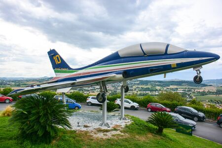 plane used by the Italian acrobatic team many years ago in free exposure