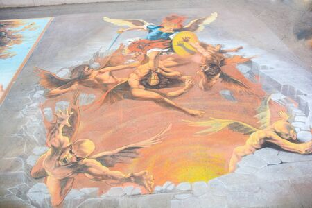 images designed on the street by unknown street artists
