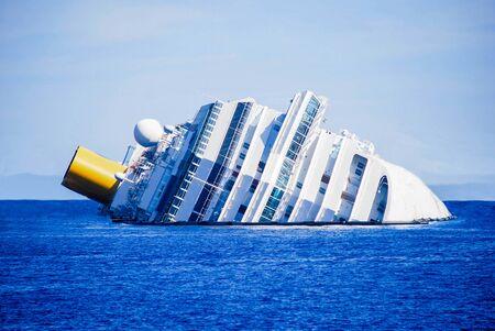 dead ship view tragic and sad Stockfoto
