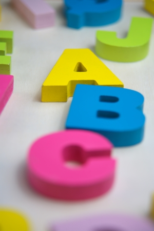 abc with toy letter Stock Photo - 17162614