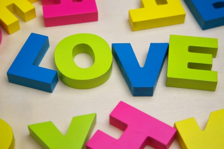 love with toy letter Stock Photo - 17162617