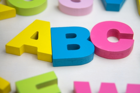 abc with toy letter Stock Photo