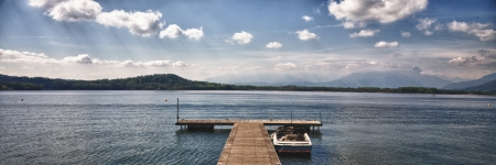 Italian lake pier