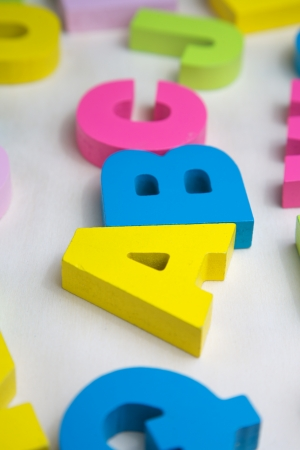Abc with letters wooden toy Stock Photo