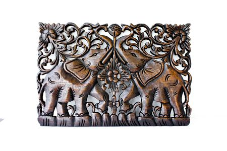 Thai wood carving photo
