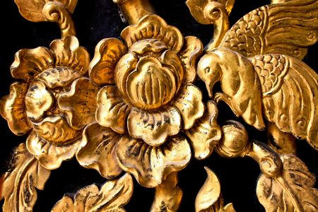 door bolt: Thai Door wood carving