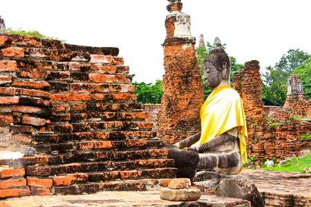 Buddha at the temple of Wat Mahatat in Ayutthaya near Bangkok, Thailand photo