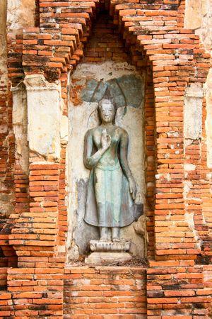 Buddha at Wat Phra Mahatat, Ayuthaya - Thailand photo