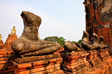 Ruined Old Temple of Ayutthaya, Thailand photo