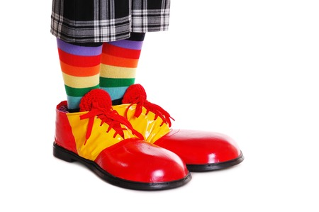 clown shoes: Closeup of clown shoes