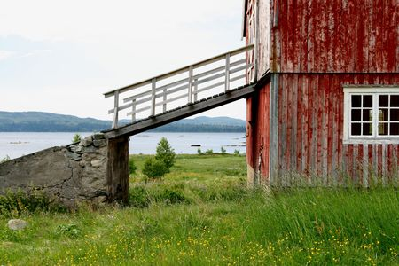 Old barn with bridge Stock Photo - 1208303