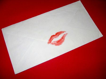 sealed: Letter sealed with a kiss mark
