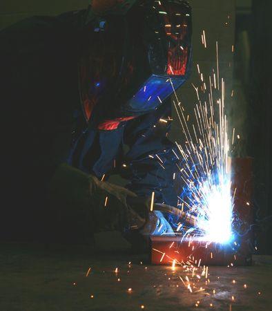 Welding steel photo