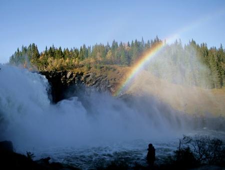 foaming: Foaming waterfall Stock Photo