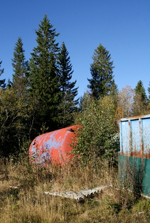 Industrial waste in the nature Stock Photo