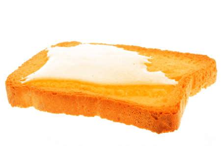 biscotte: biscotte et de miel avec un fond blanc Banque d'images