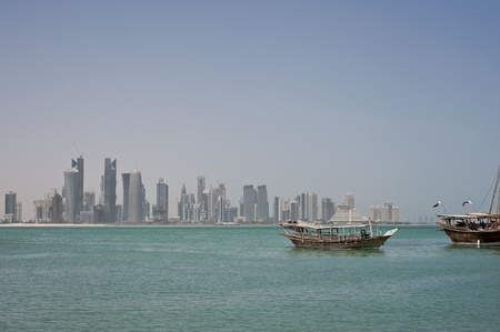 Dhow boats in doha