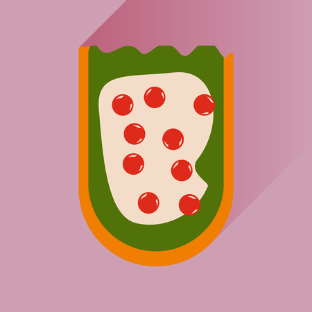 caviar: flat icon with long shadow sandwich caviar Illustration