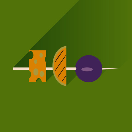 appetizer: Flat with shadow Icon appetizer on bright background Illustration