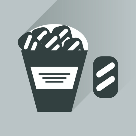 crackers: flat icon with long shadow snack crackers