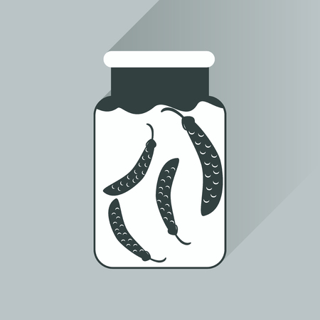 salinity: flat icon with long shadow canned peas