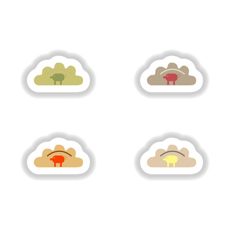 russian cuisine: assembly paper stickers Ukrainian dumplings with pork